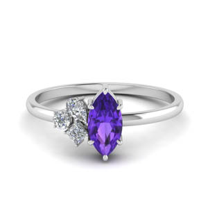 Non Traditional Amethyst Ring