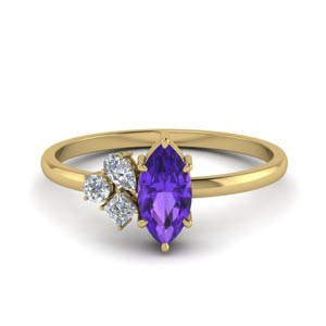 Non Traditional Purple Amethyst Ring