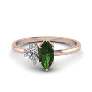 Petite Non Traditional Wedding Ring