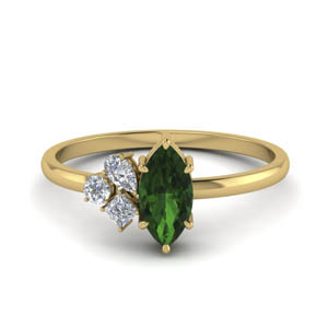 Unconventional Emerald Ring