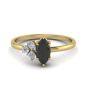 Petite Black Onyx Wedding Ring