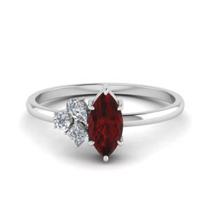 petite non traditional diamond wedding ring with ruby in 950 platinum FD9029MQGRUDR NL WG.jpg