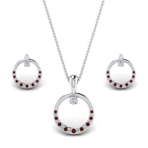 Ruby Circle Round Set For Women