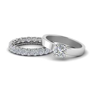 Diamond Ring With Eternity Band