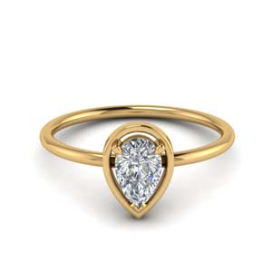 1 Ct Pear Thin Diamond Ring