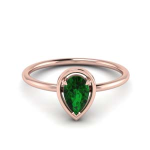 Pear Solitaire Ring For Women