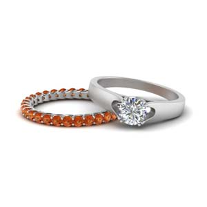 Trellis Band With Solitaire Ring