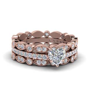 3 Piece Diamond Wedding Set