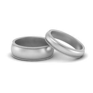 Milgrain Matching Ring For Couple