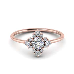 Modern Diamond Cluster Ring