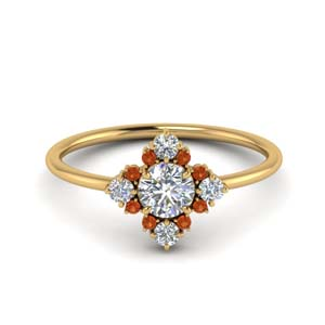 Art Deco Gold Cluster Ring
