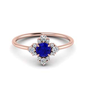 Modern Sapphire Colored Ring