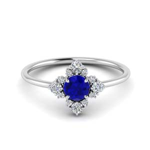Cluster Sapphire Commitment Ring