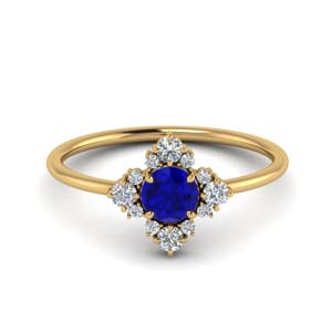 Unusual Sapphire Ring With Diamonds