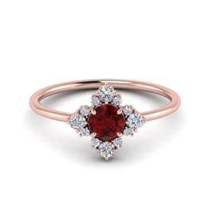 Ruby Round Cut Ring