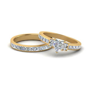 Channel Set Wedding Ring Set