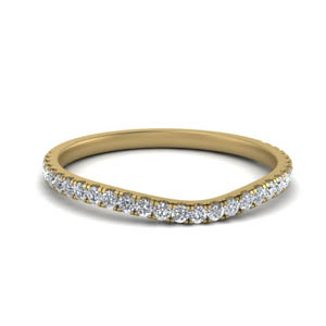 U Prong Diamond Contour Band
