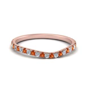 U Prong Rose Gold Band