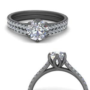 Flower Basket Diamond Ring Set