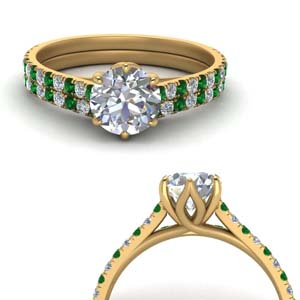 Emerald Basket Wedding Set