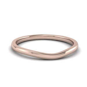 18K Rose Gold Without Diamond Band
