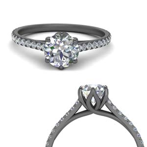 Flower Basket Engagement Ring