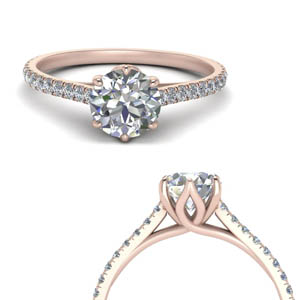 1 Carat Petite French Prong Ring