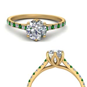 Cathedral Flower Basket Diamond Ring