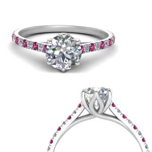 6 Prong Pink Sapphire Ring
