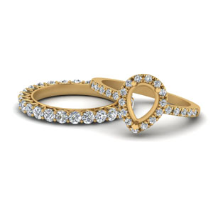 Semi Mount Halo Ring Set