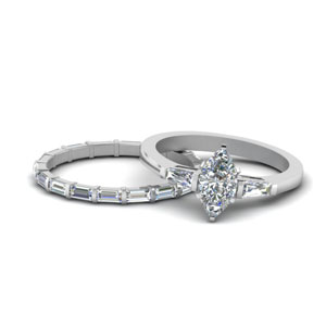 Petite Bar Set Diamond Wedding Set