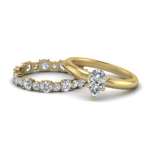 Pear Shaped Wedding Sets