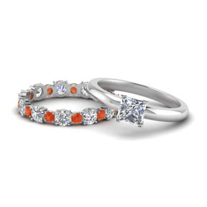 Unique Orange Topaz Set