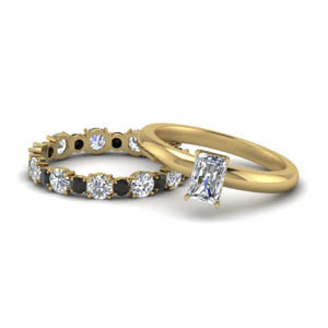 Black Diamond Wedding Set