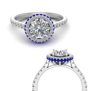 Under Halo Sapphire Engagement Ring