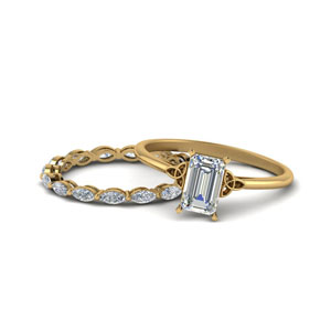 Emerald Cut Ring With Marquise Band
