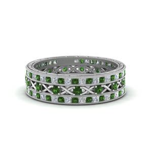 Antique Emerald Stackable Band