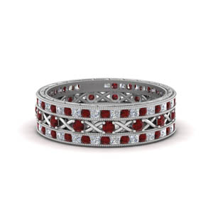 Antique Ruby Stackable Band