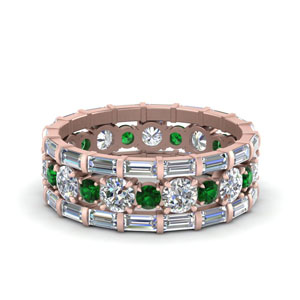 Eternity Stacking Band With Emerald