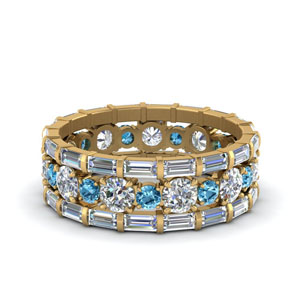 Blue Topaz Eternity Stacking Band
