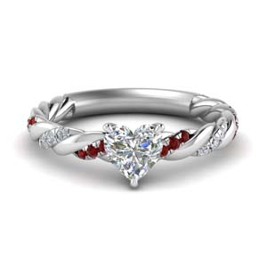 Platinum Delicate Ruby Ring