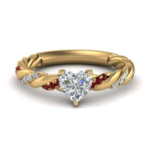 Ruby Twisted Diamond Band Ring