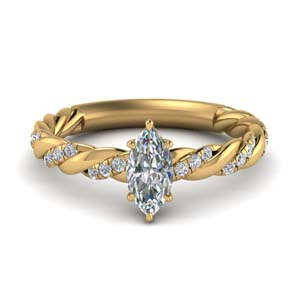 Marquise Twisted Delicate Diamond Ring