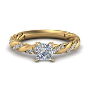 1.15 Carat Diamond Rope Wedding Ring