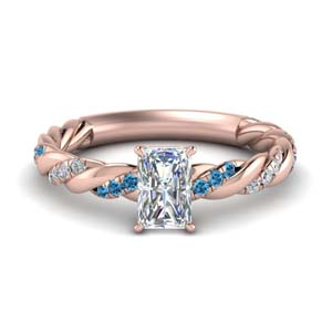 Rope Style Radiant Diamond Ring