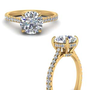 Hidden Halo Diamond Ring 2 Ct.
