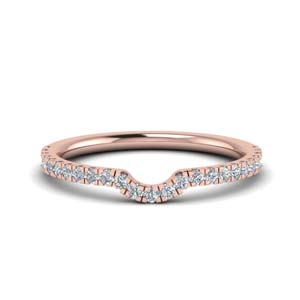 U Prong Diamond Wedding Band