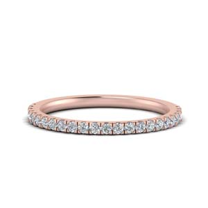 Simple U Prong Diamond Band