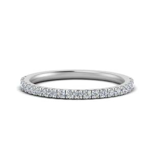 Delicate U Prong Wedding Band