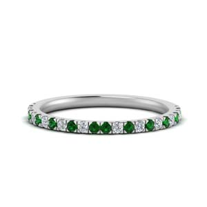 Simple Emerald Wedding Band